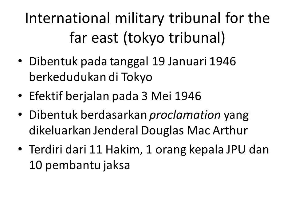 International military tribunal for the far east (tokyo tribunal)