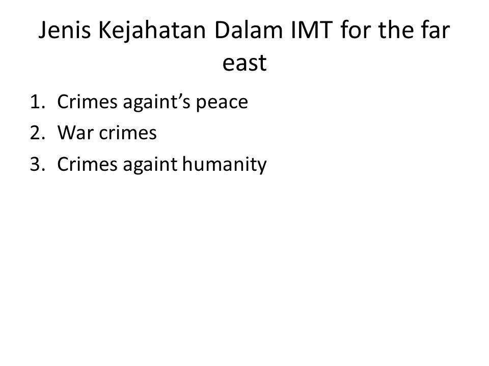 Jenis Kejahatan Dalam IMT for the far east