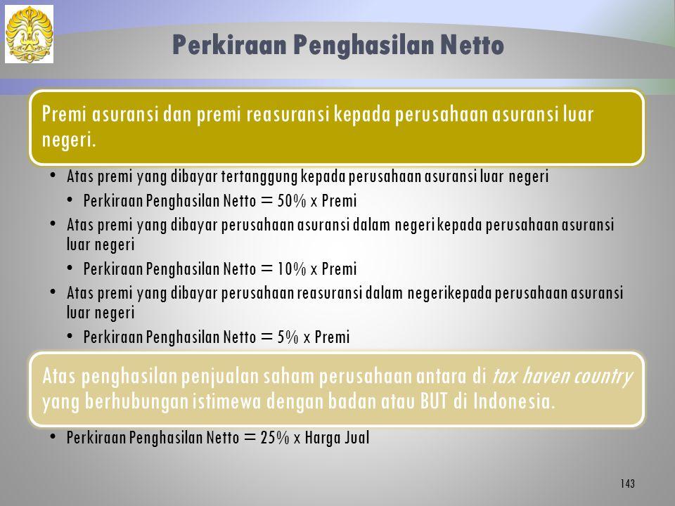 Perkiraan Penghasilan Netto