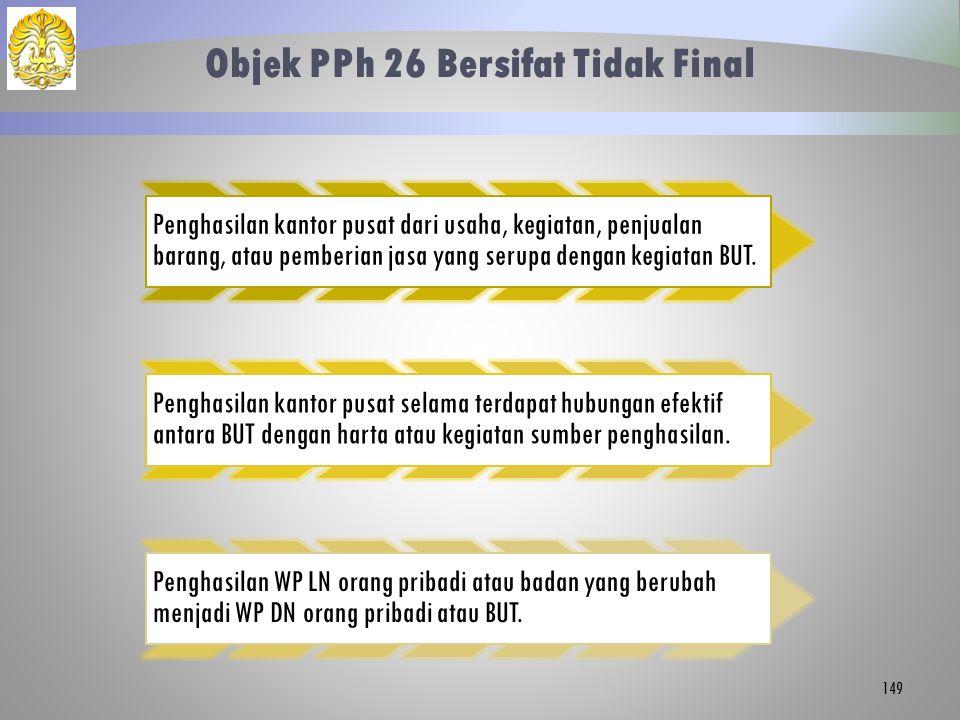 Objek PPh 26 Bersifat Tidak Final