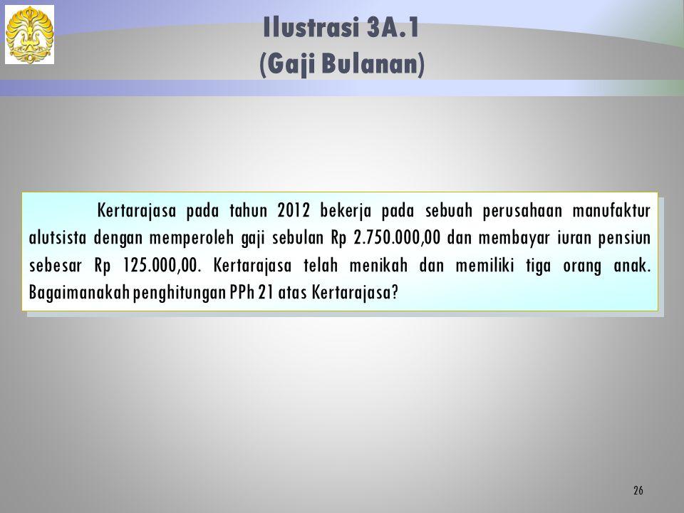 Ilustrasi 3A.1 (Gaji Bulanan)