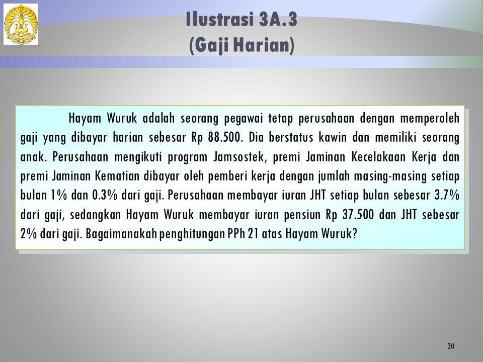 Ilustrasi 3A.3 (Gaji Harian)