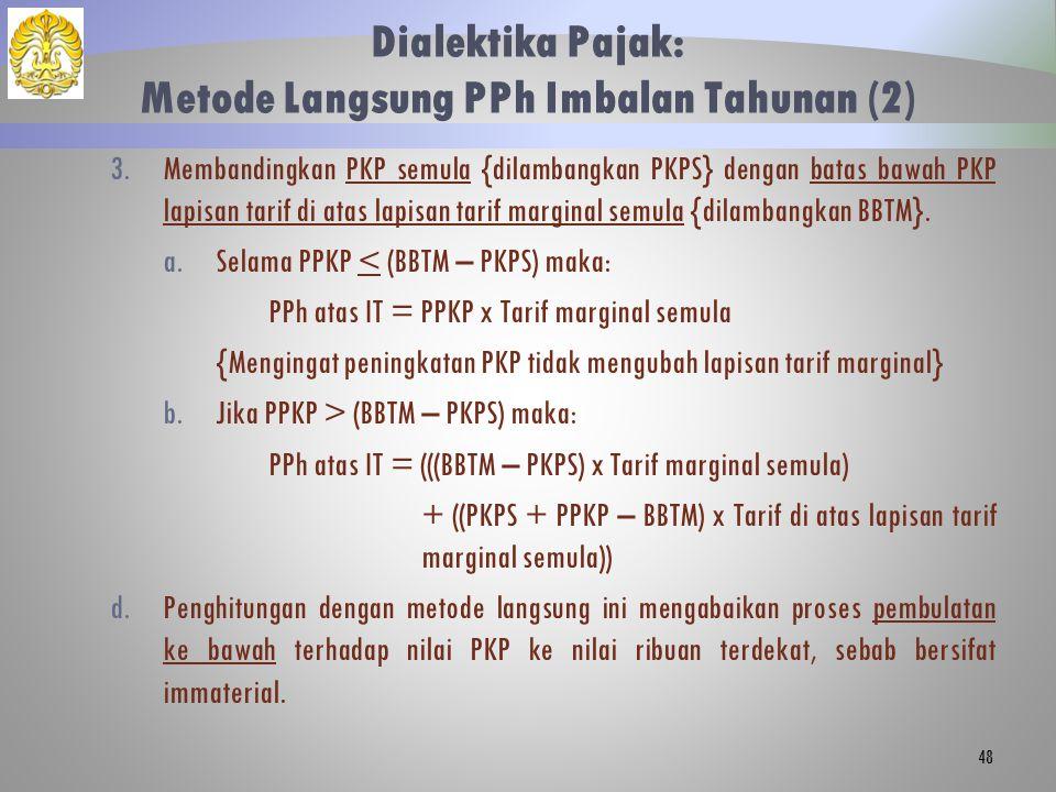 Dialektika Pajak: Metode Langsung PPh Imbalan Tahunan (2)