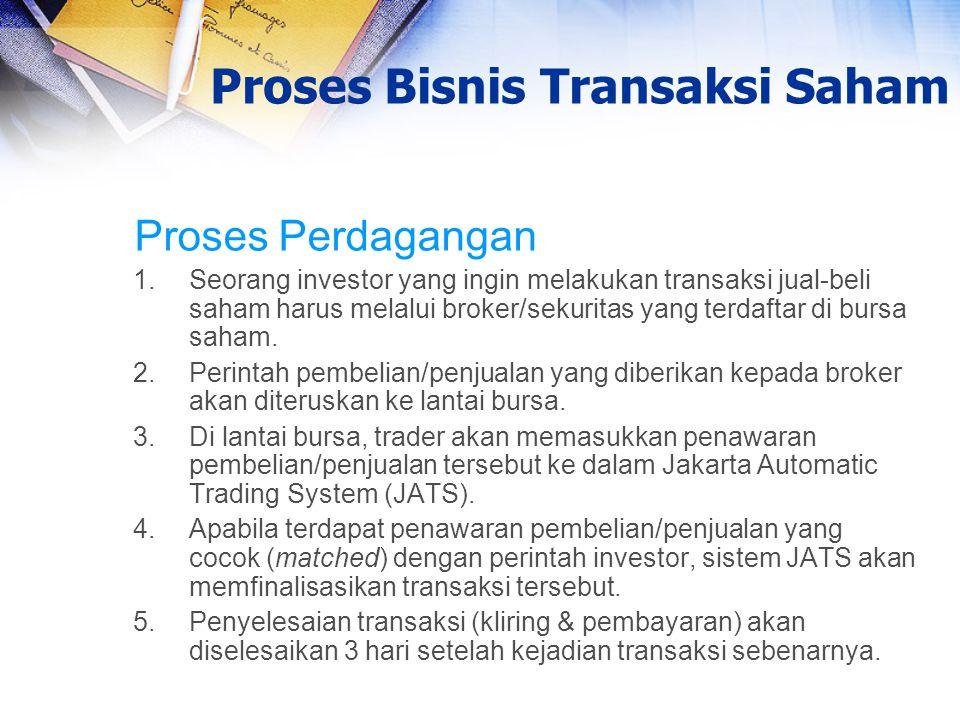Proses Bisnis Transaksi Saham