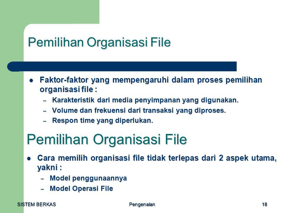 Pemilihan Organisasi File