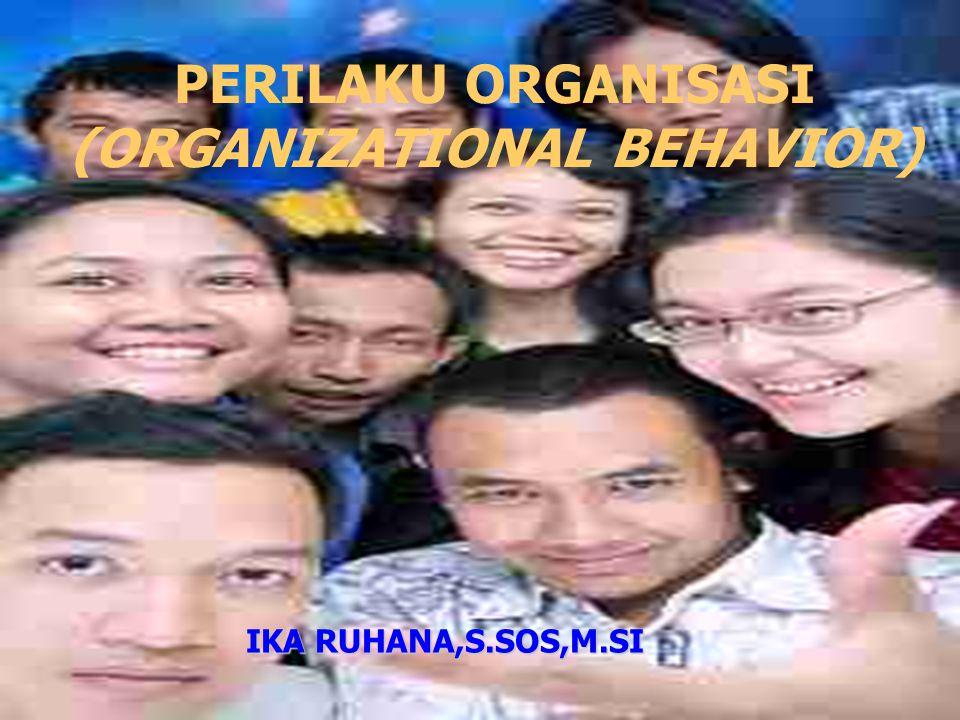 PERILAKU ORGANISASI (ORGANIZATIONAL BEHAVIOR)
