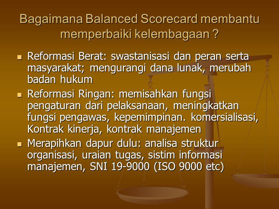 Bagaimana Balanced Scorecard membantu memperbaiki kelembagaan
