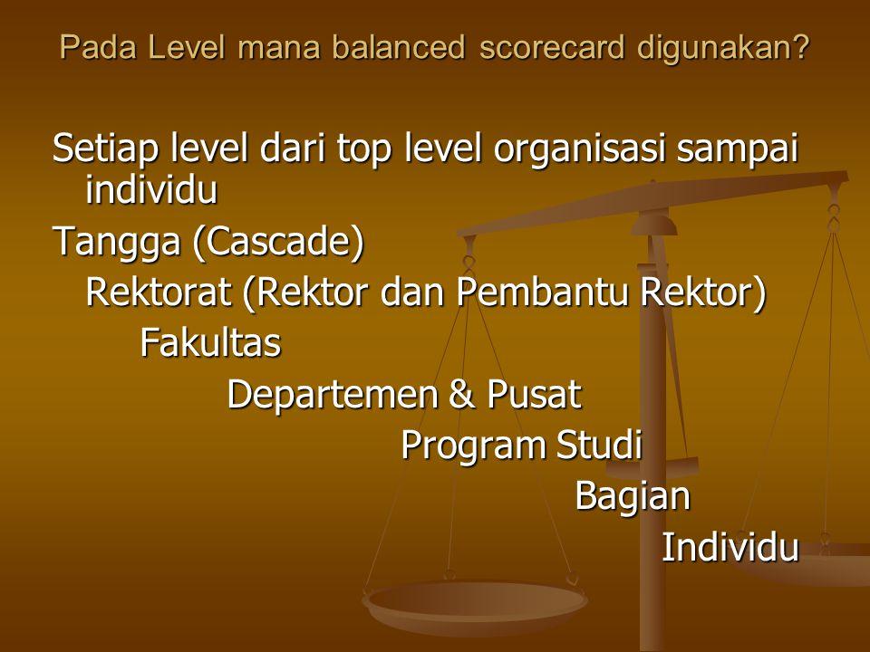 Pada Level mana balanced scorecard digunakan