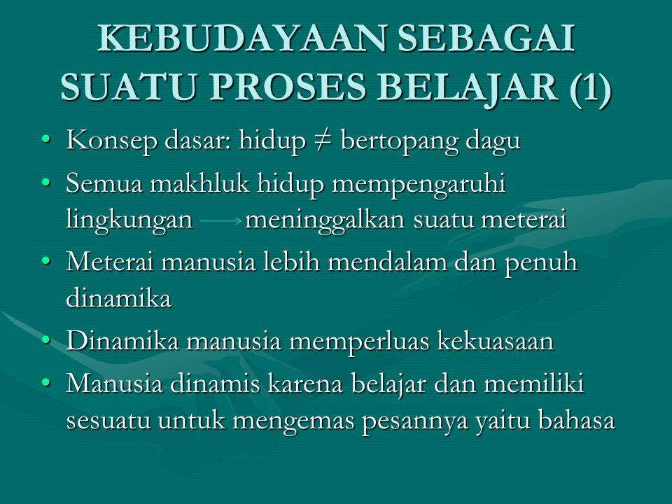 KEBUDAYAAN SEBAGAI SUATU PROSES BELAJAR (1)