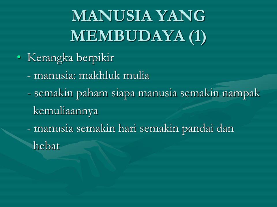 MANUSIA YANG MEMBUDAYA (1)