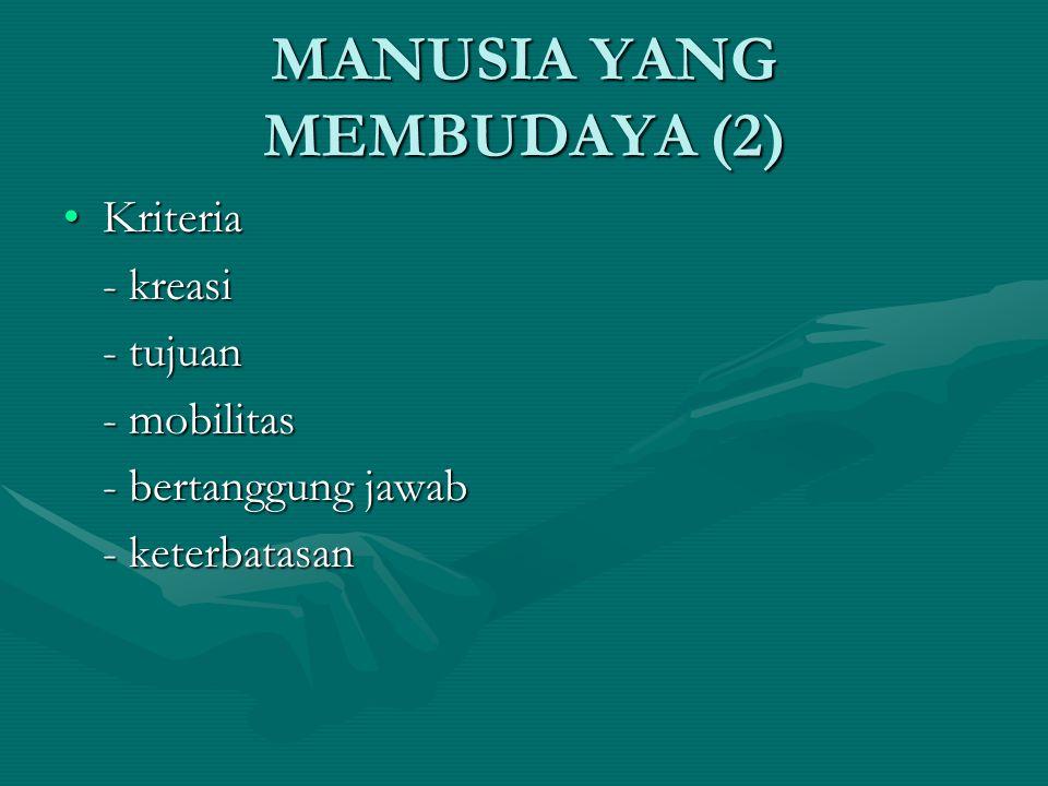 MANUSIA YANG MEMBUDAYA (2)