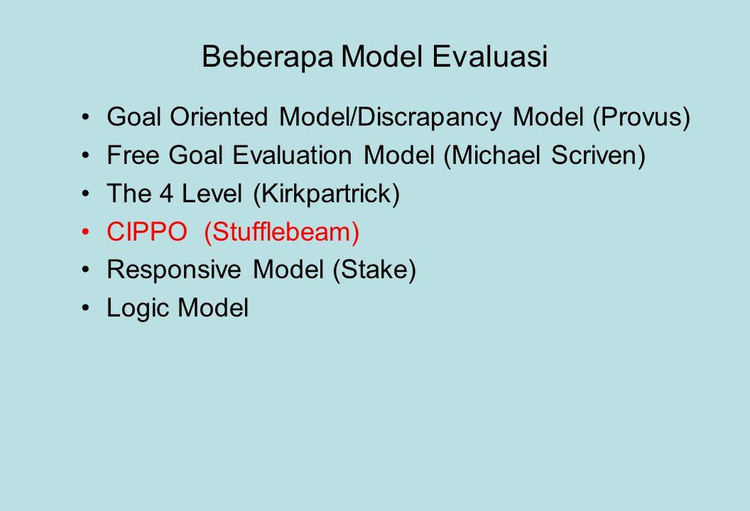 Beberapa Model Evaluasi