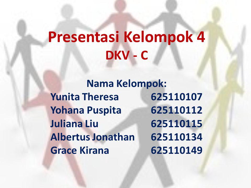 Presentasi Kelompok 4 DKV - C Nama Kelompok: Yunita Theresa 625110107