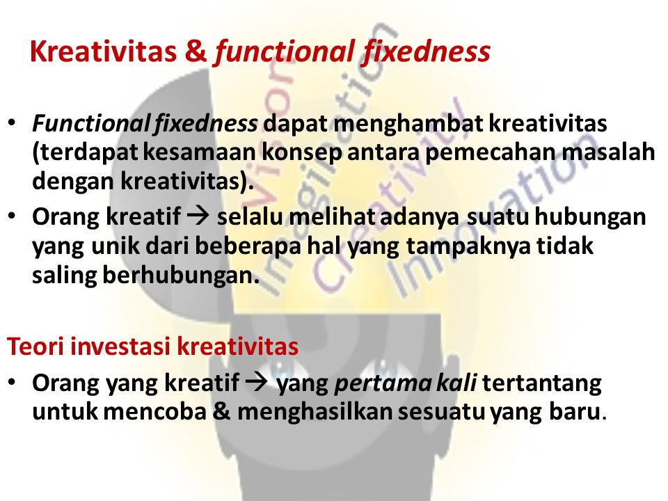 Kreativitas & functional fixedness