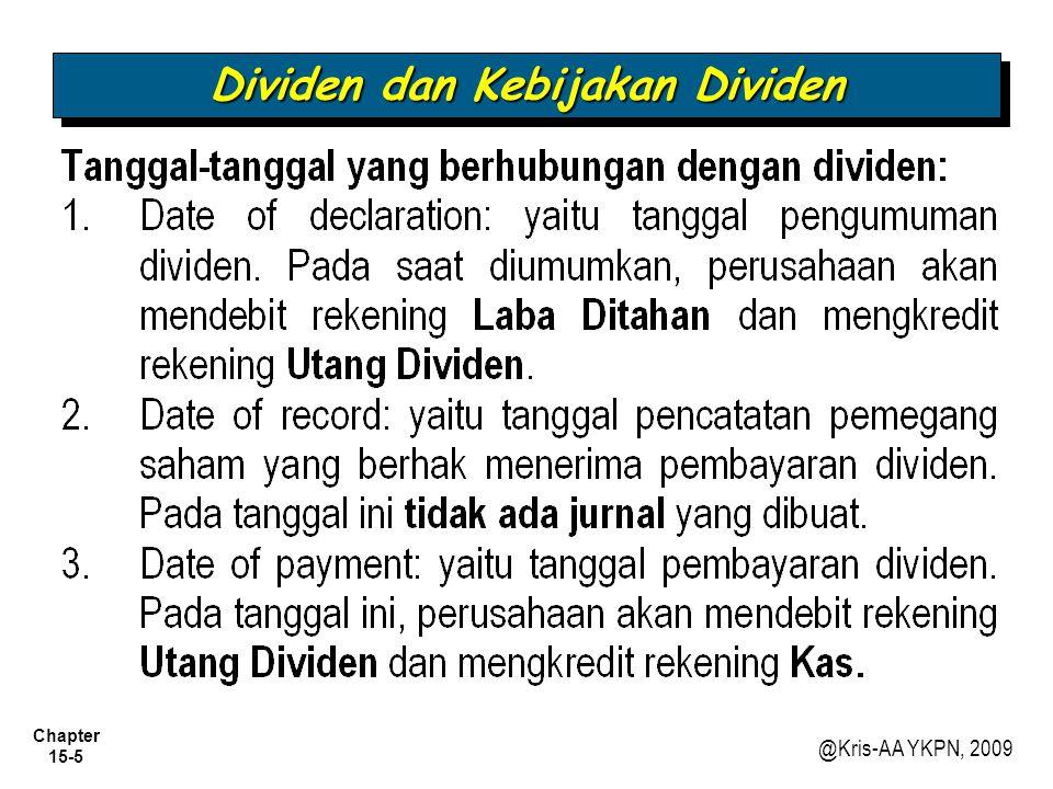 Dividen dan Kebijakan Dividen