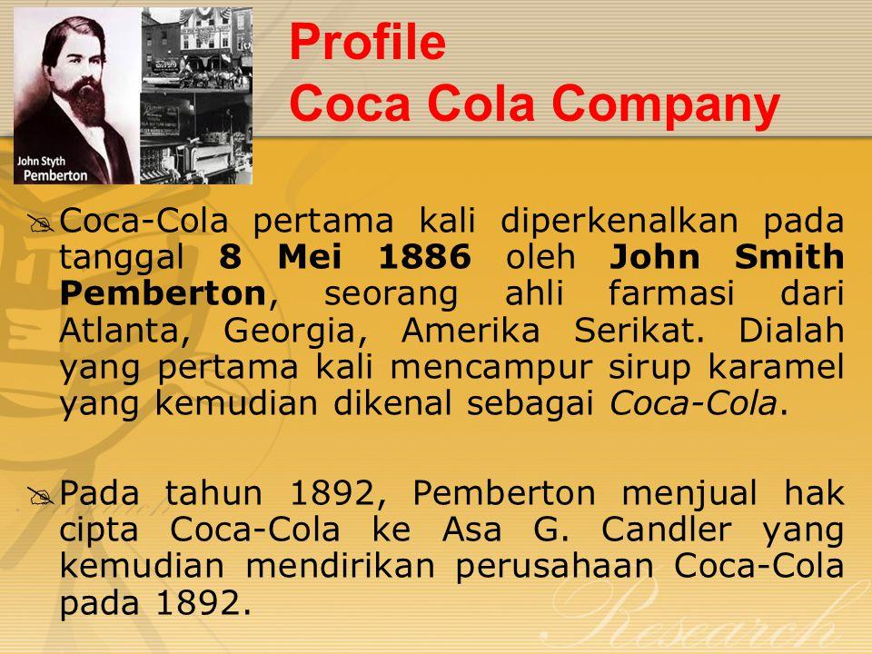 Profile Coca Cola Company