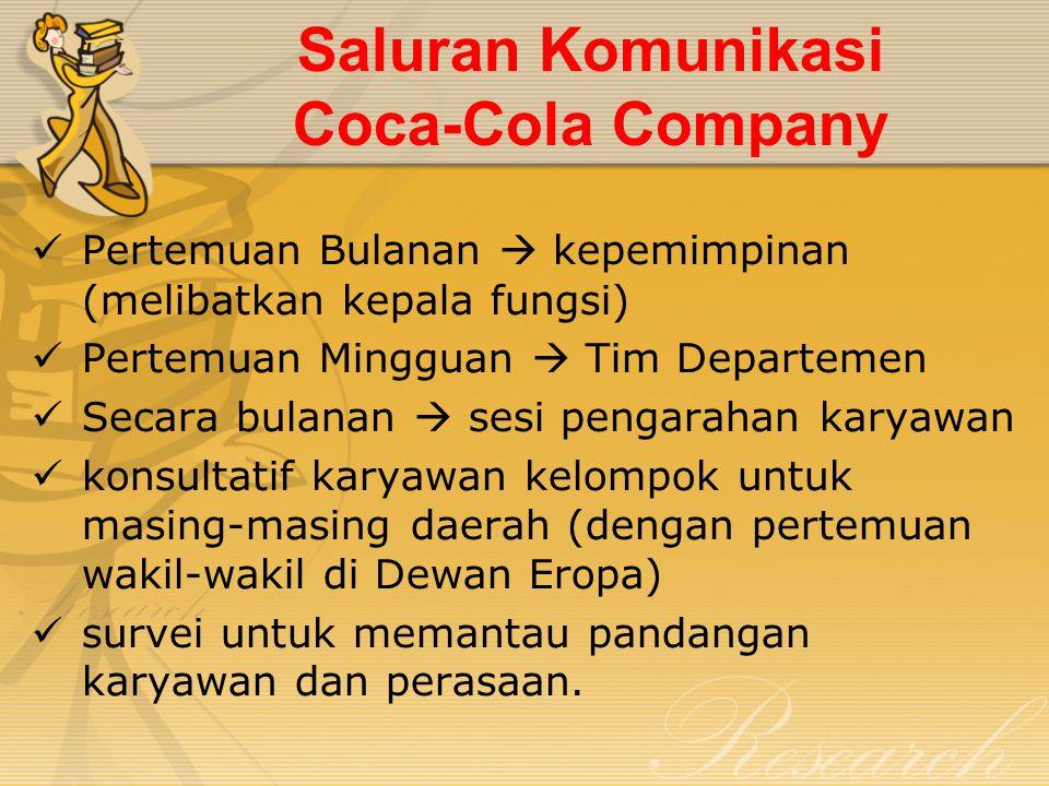 Saluran Komunikasi Coca-Cola Company
