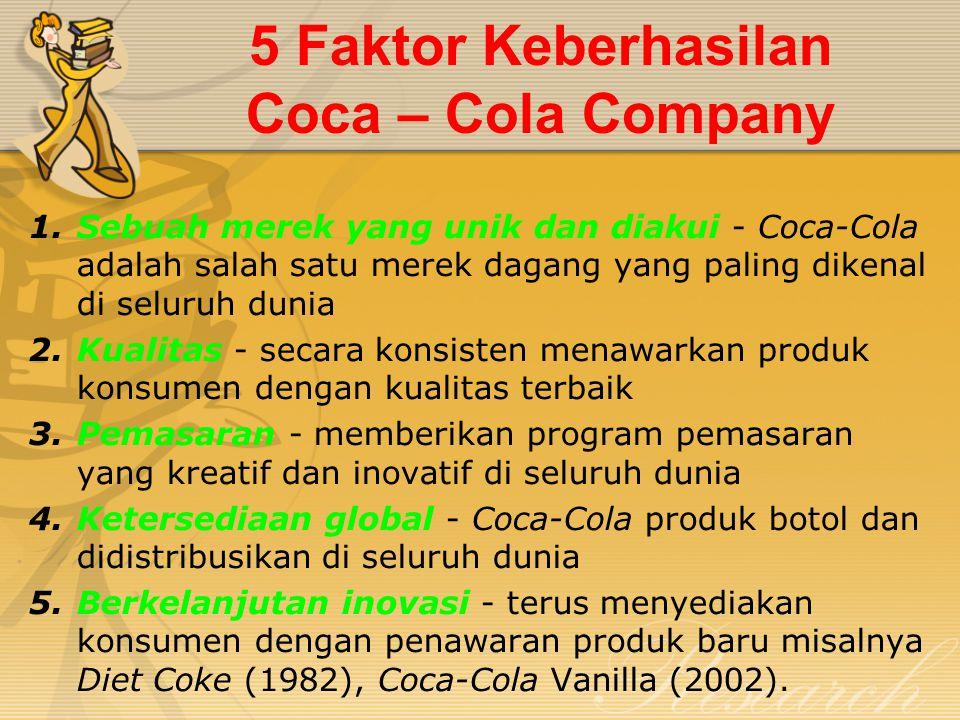 5 Faktor Keberhasilan Coca – Cola Company