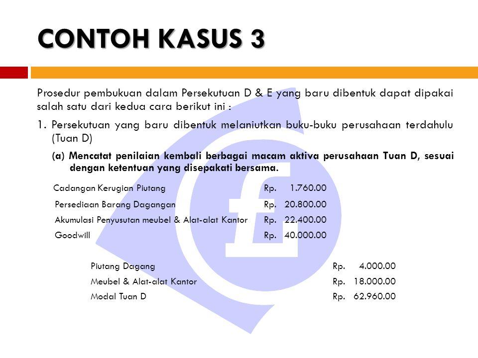 CONTOH KASUS 3 Cadangan Kerugian Piutang Rp. 1.760.00