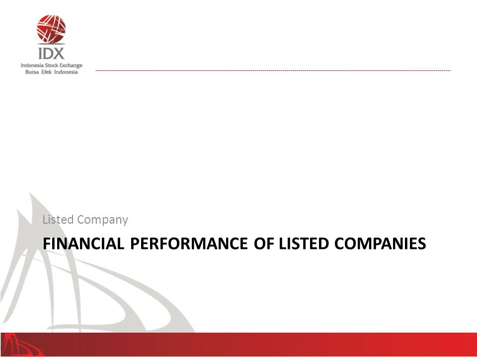 Financial Performance of Listed Companies