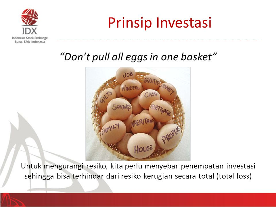 Don't pull all eggs in one basket