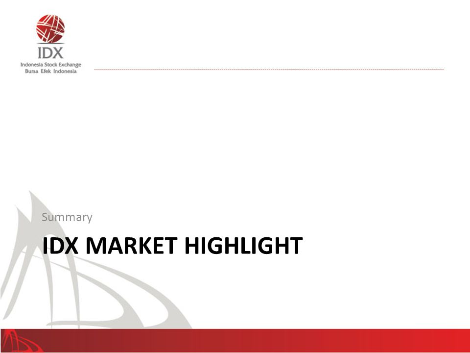Summary IDX Market Highlight