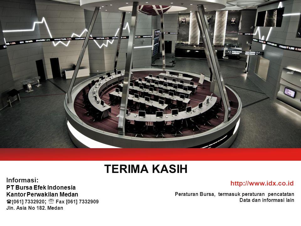 TERIMA KASIH Informasi: http://www.idx.co.id PT Bursa Efek Indonesia
