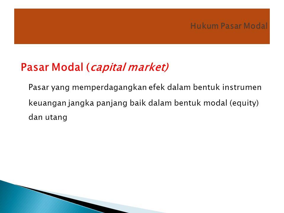 Hukum Pasar Modal