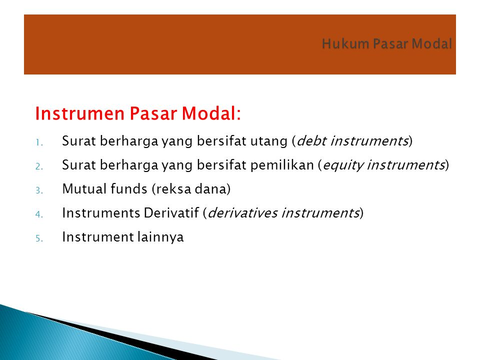 Instrumen Pasar Modal: