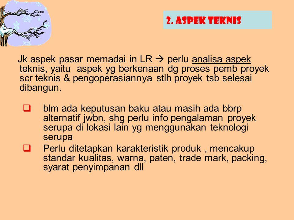 2. Aspek teknis