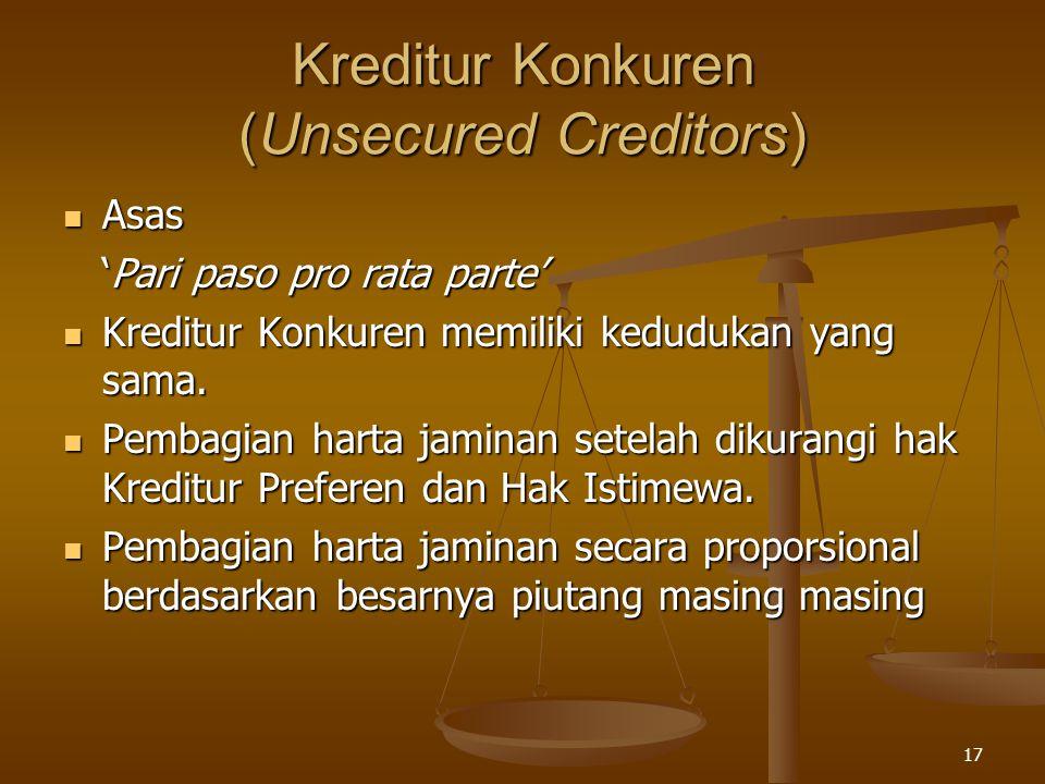 Kreditur Konkuren (Unsecured Creditors)