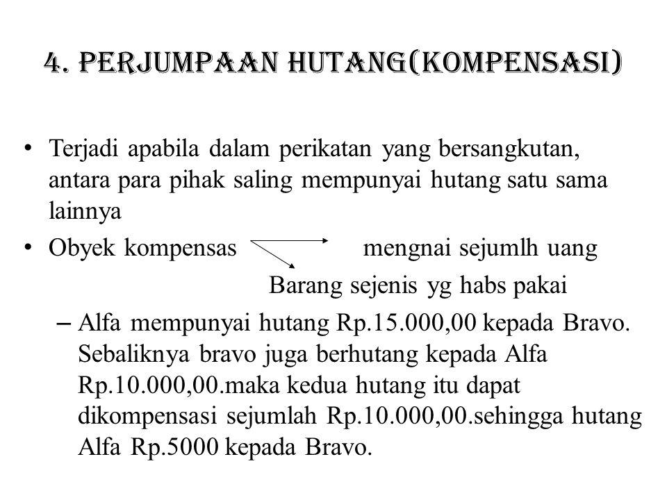 4. Perjumpaan hutang(kompensasi)