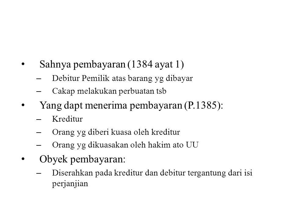 Sahnya pembayaran (1384 ayat 1)