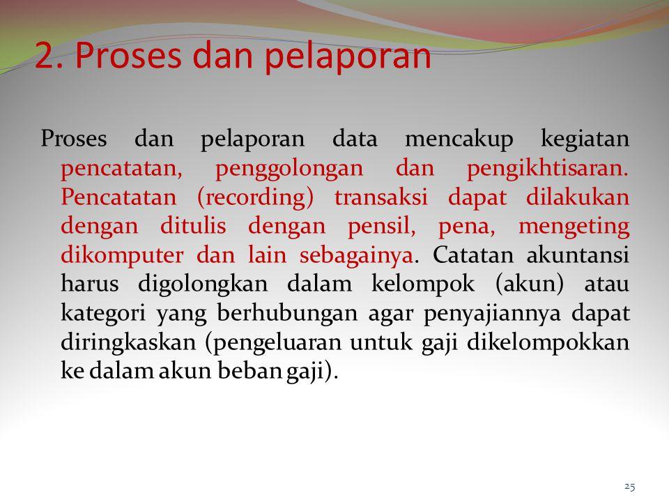 2. Proses dan pelaporan