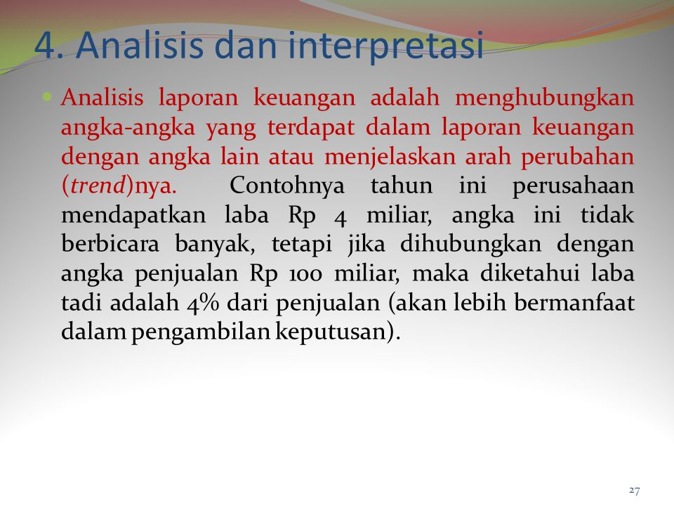 4. Analisis dan interpretasi