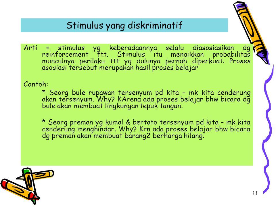 Stimulus yang diskriminatif