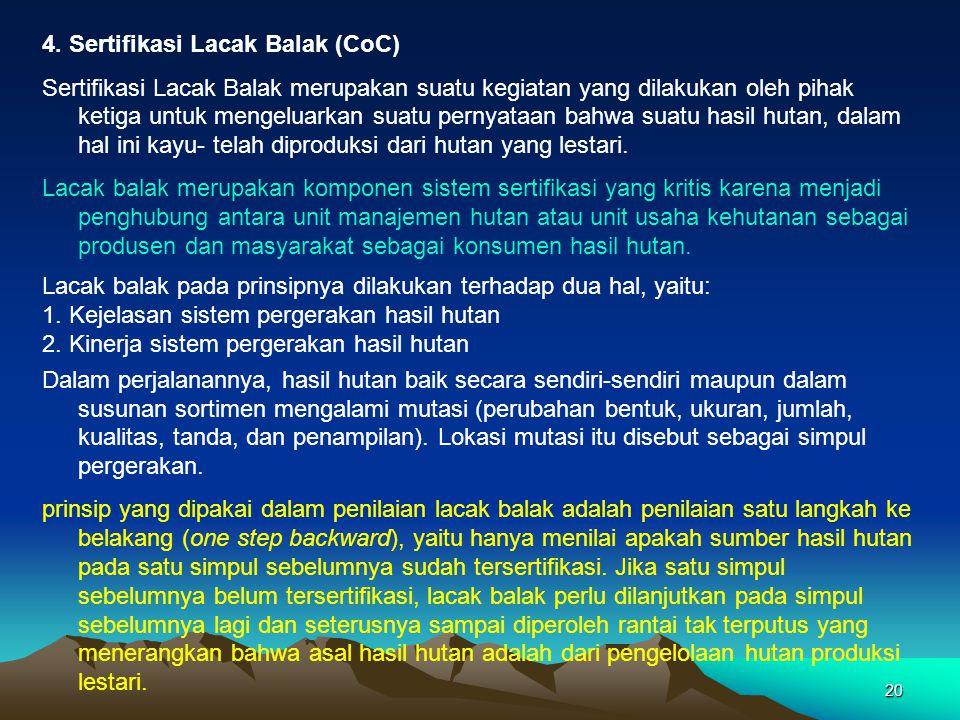 4. Sertifikasi Lacak Balak (CoC)