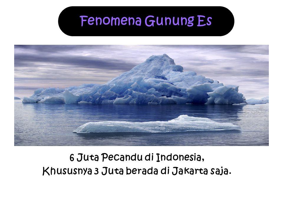 6 Juta Pecandu di Indonesia, Khususnya 3 Juta berada di Jakarta saja.
