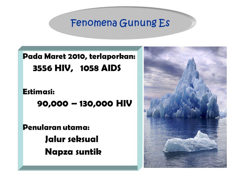 Fenomena Gunung Es 90,000 – 130,000 HIV Napza suntik