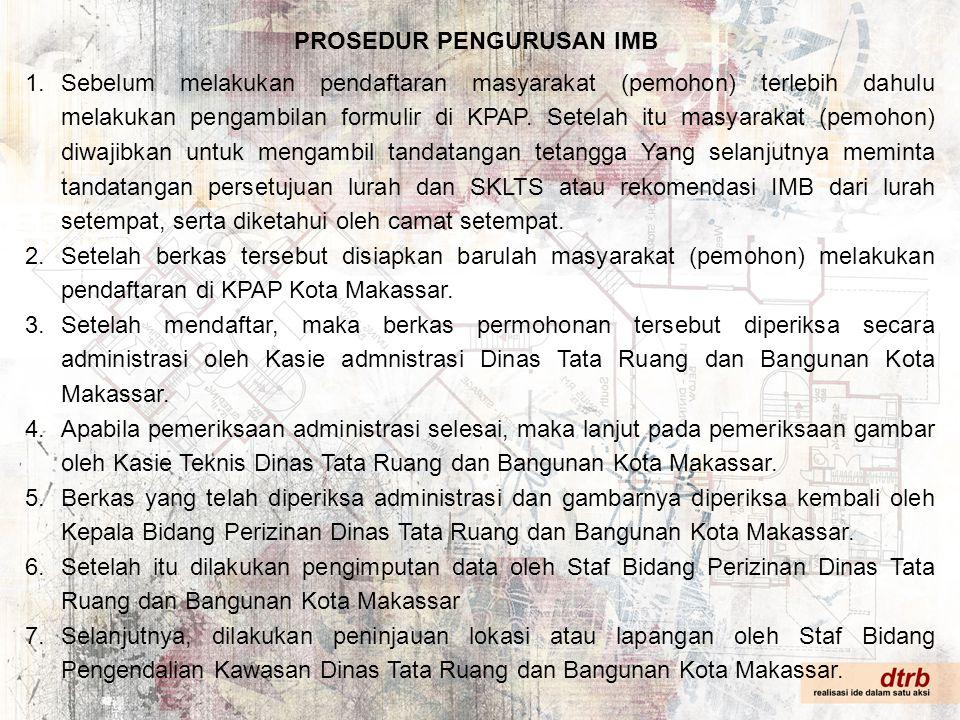 PROSEDUR PENGURUSAN IMB