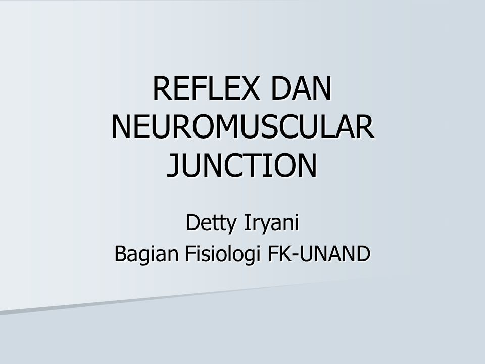 REFLEX DAN NEUROMUSCULAR JUNCTION