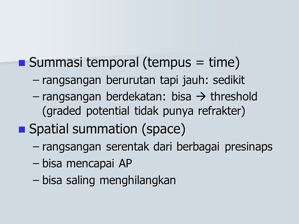 Summasi temporal (tempus = time)
