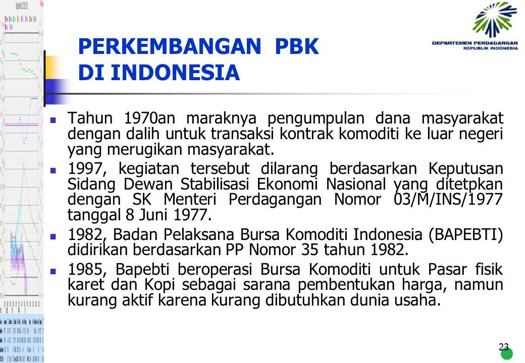 PERKEMBANGAN PBK DI INDONESIA