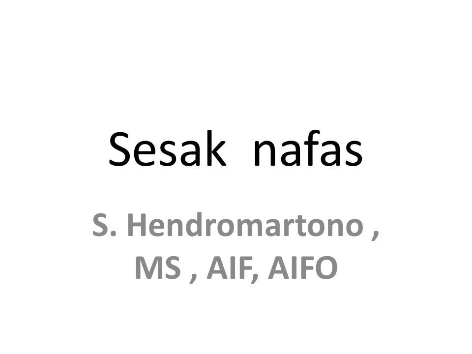 S. Hendromartono , MS , AIF, AIFO