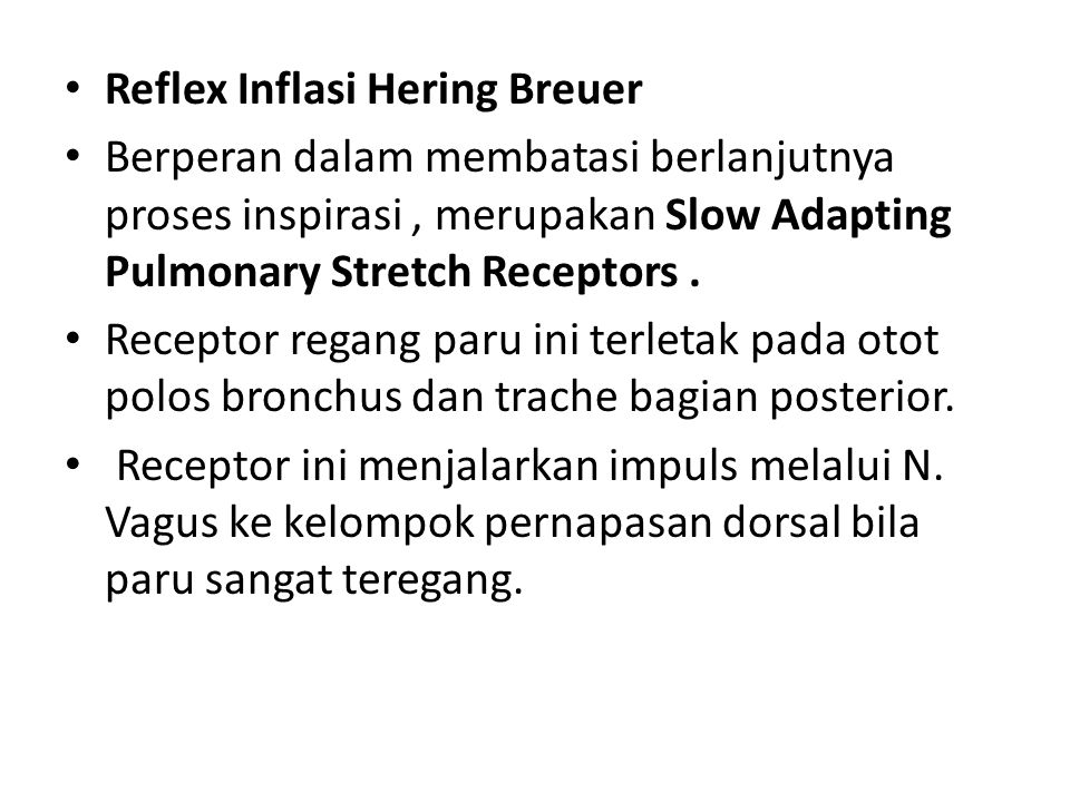 Reflex Inflasi Hering Breuer