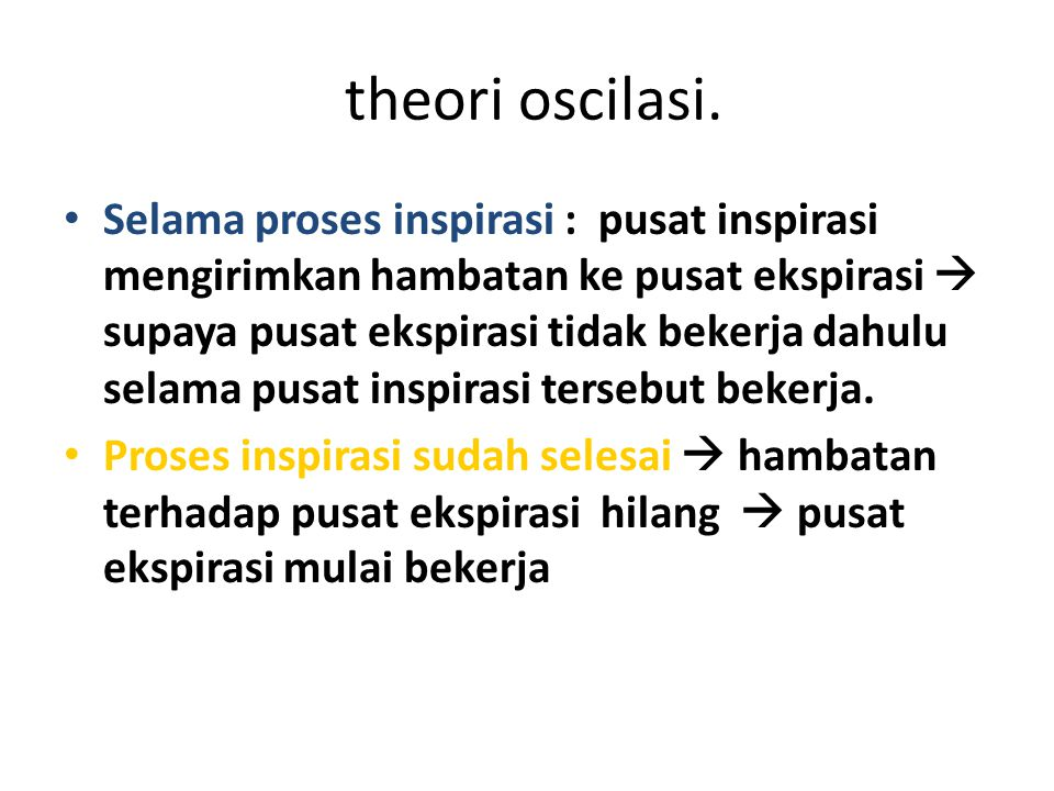 theori oscilasi.