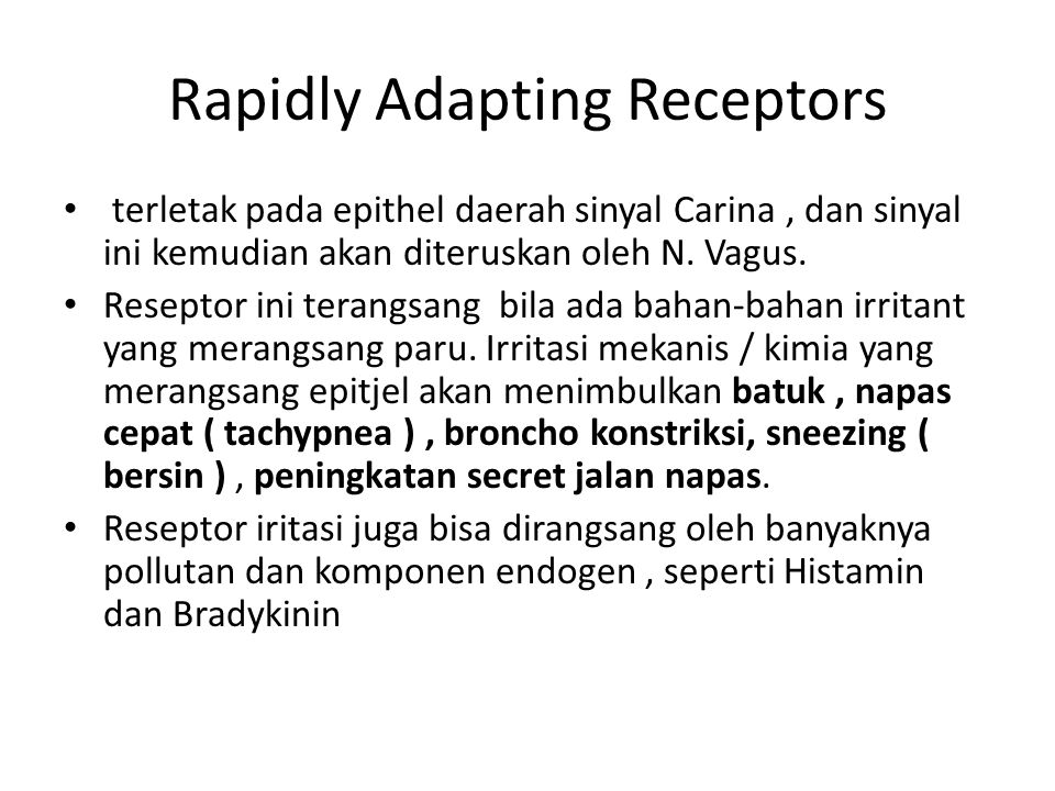 Rapidly Adapting Receptors