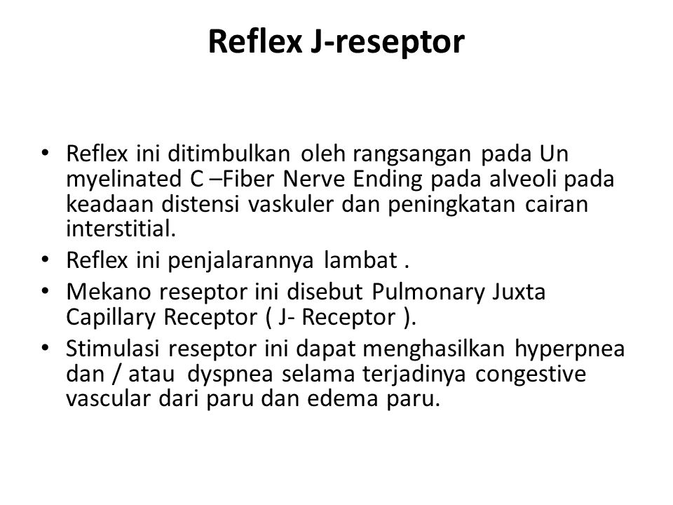 Reflex J-reseptor