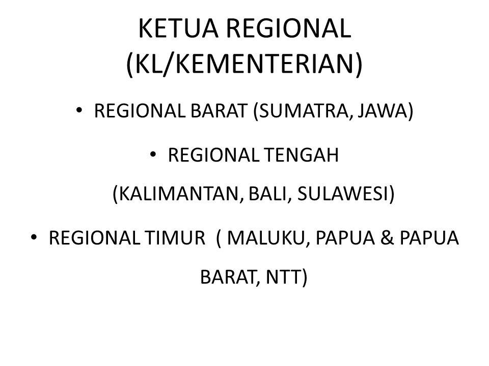 KETUA REGIONAL (KL/KEMENTERIAN)