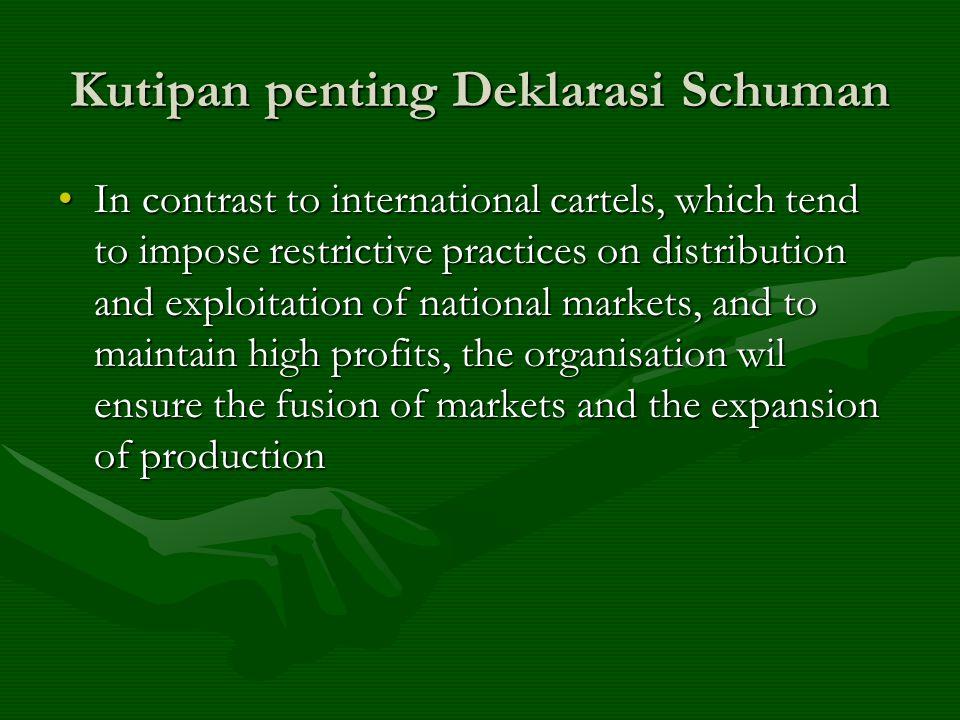 Kutipan penting Deklarasi Schuman